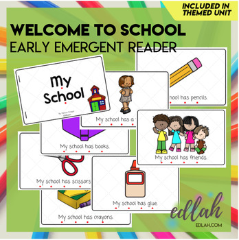 Welcome to School Early Emergent Reader