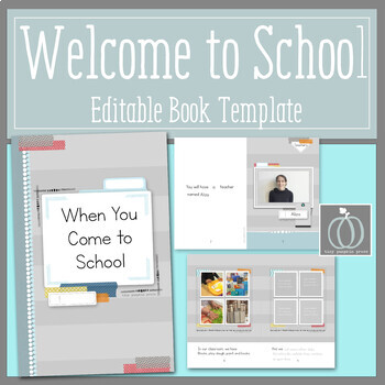Welcome to School Editable Book Template For Preschool