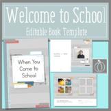 Welcome to School Editable Book Template For Preschool