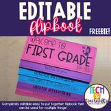 Welcome to School Editable Flipbook! *FREEBIE*