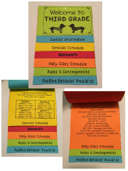 Welcome to School- Editable Information Flap Booklet (Owl Theme)