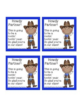 Welcome to School Gift Cards Cowboy Style