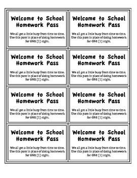 Welcome to School Homework Pass!