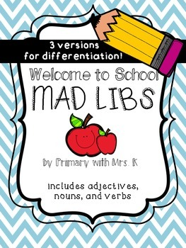 Welcome to School Mad Libs