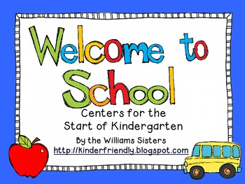 Welcome to School ~ Math & Literacy Centers to Get the School Year Started