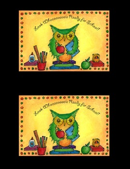 Welcome to School Postcard Pack - Owl Theme