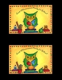 Owl Welcome to School Postcard Pack