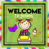 Welcome to School Themed Unit-Preschool Lesson Plans and Activities (one week)