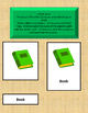 Welcome to School Three Part Cards for TESOL Learners