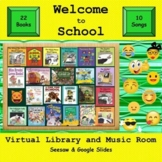 Welcome to School! Virtual Library & Music Room - SEESAW &