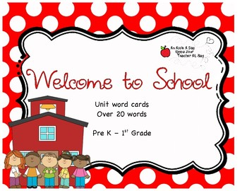 Welcome to School Word Cards
