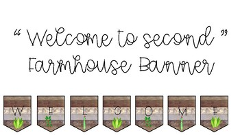 Welcome to Second Farmhouse Banner