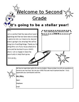 Welcome to Second Grade