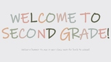 Welcome to Second Grade! Back to School Banner