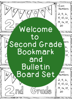 Welcome to Second Grade Bookmark Back to School Bulletin Board Coloring Page