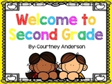 Welcome to Second Grade Packet