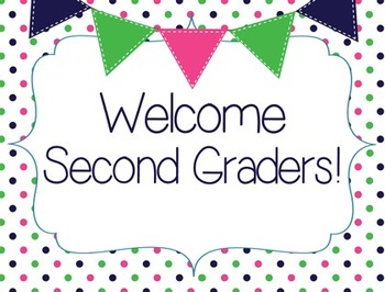 Welcome to Second Grade Postcard