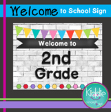 Welcome to Second Grade Sign