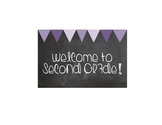 Welcome to Second Grade greeting card