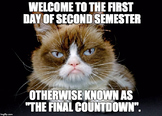 Welcome to Second Semester