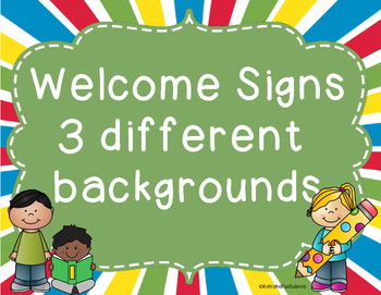 Welcome to Signs posters - 3 backgrounds - Freebie