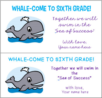 Welcome to Sixth Grade Stickers Ocean Theme