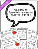 Welcome-to-Speech-Intervention Parent Letters