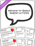Welcome-to-Speech Parent Letters