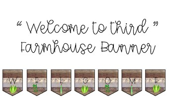 Welcome to Third Farmhouse Banner