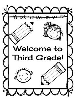 Welcome to Third Grade-Back to School Activities