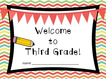 Welcome to Third Grade (Back to School Book)