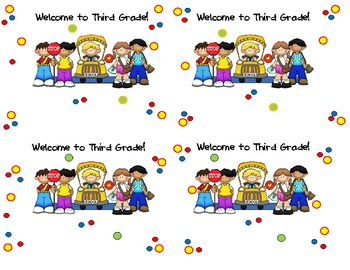 Welcome to Third Grade Cards