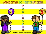 Welcome to Third Grade Editable Postcards
