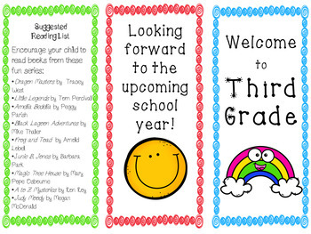 Welcome to Third Grade Informational Trifold
