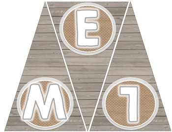 Welcome to Third Grade Pennant Banner [Barn Wood & Burlap]