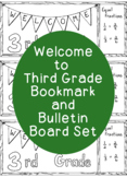 Welcome to Third Grade Bookmark Bulletin Board Back to School Coloring Page