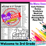 Welcome to Third Grade Word Search Activity