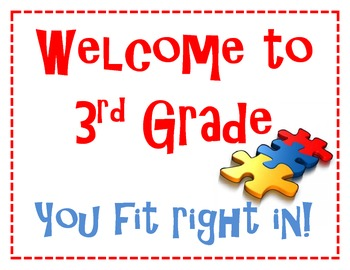 Welcome to Third Grade.  You fit right in.  Puzzle Piece