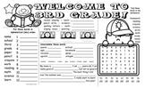 Welcome to Third Grade activity mat