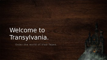 Welcome to Transylvania (excerpts from Dracula by Bram Stoker)