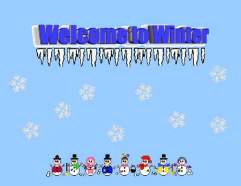 Welcome to Winter Sign