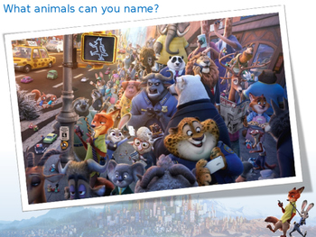 Welcome to Zootopia - lesson