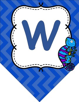 Welcome to _ Grade Chameleon and Chevron Themed Back to School Banner