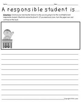 Back-to-School Writing Prompt Worksheets