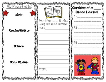 Welcome to ____ Grade!! (Brochure for Beginning of the School Year)