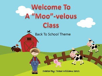 """Welcome to a """"Moo""""-velous Class Back to School Theme"""