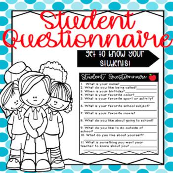 Student Questionnaire!