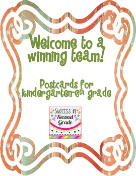 Welcome to a Winning Team Postcard