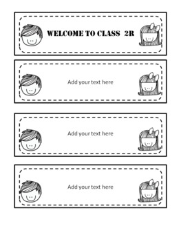 Welcome to class flip book