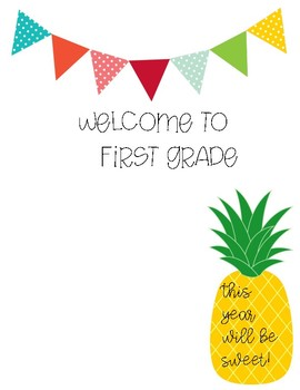 Welcome to .... grade cover sheet